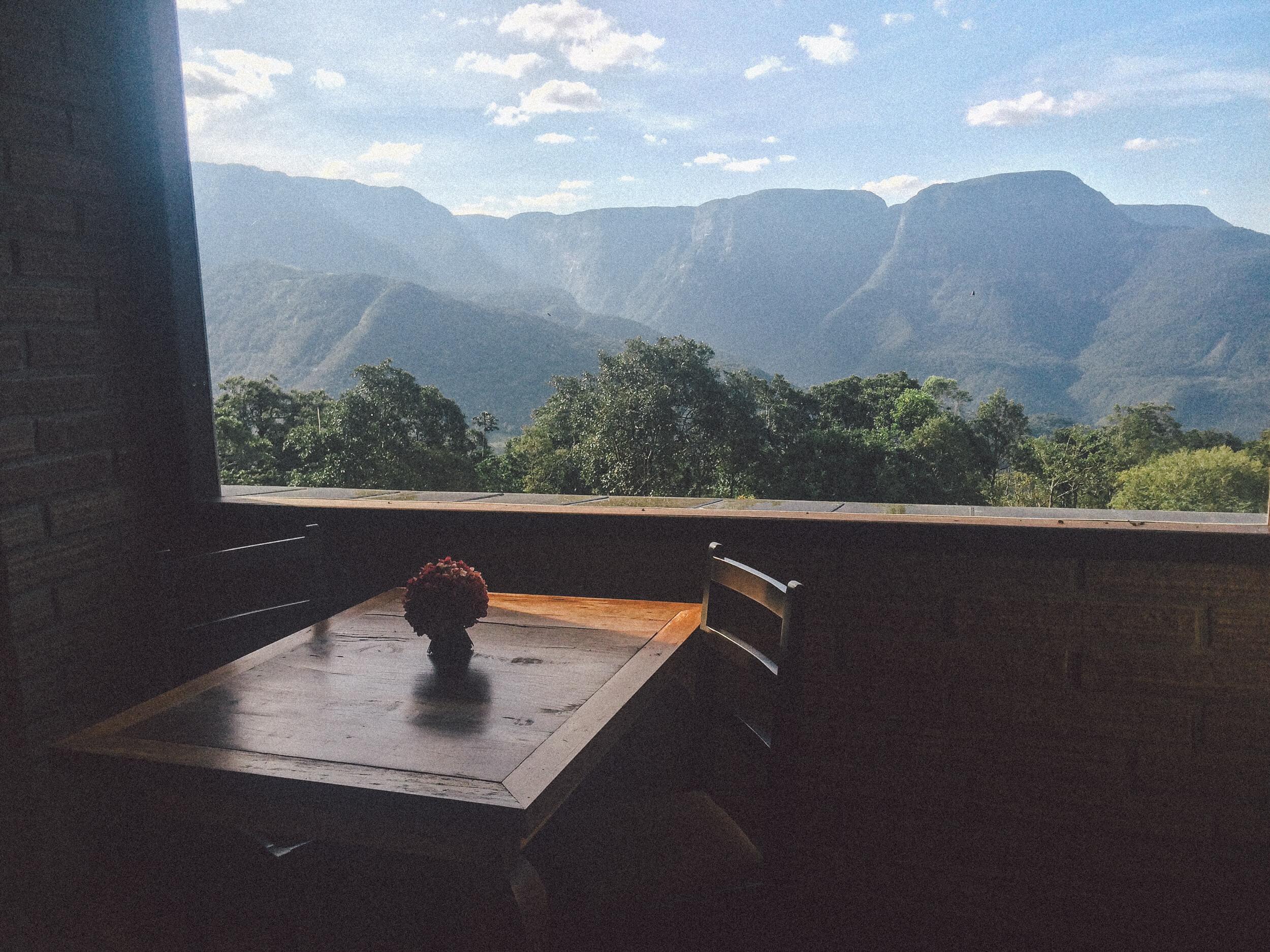 Vista do Restaurante da Morada dos Canyons