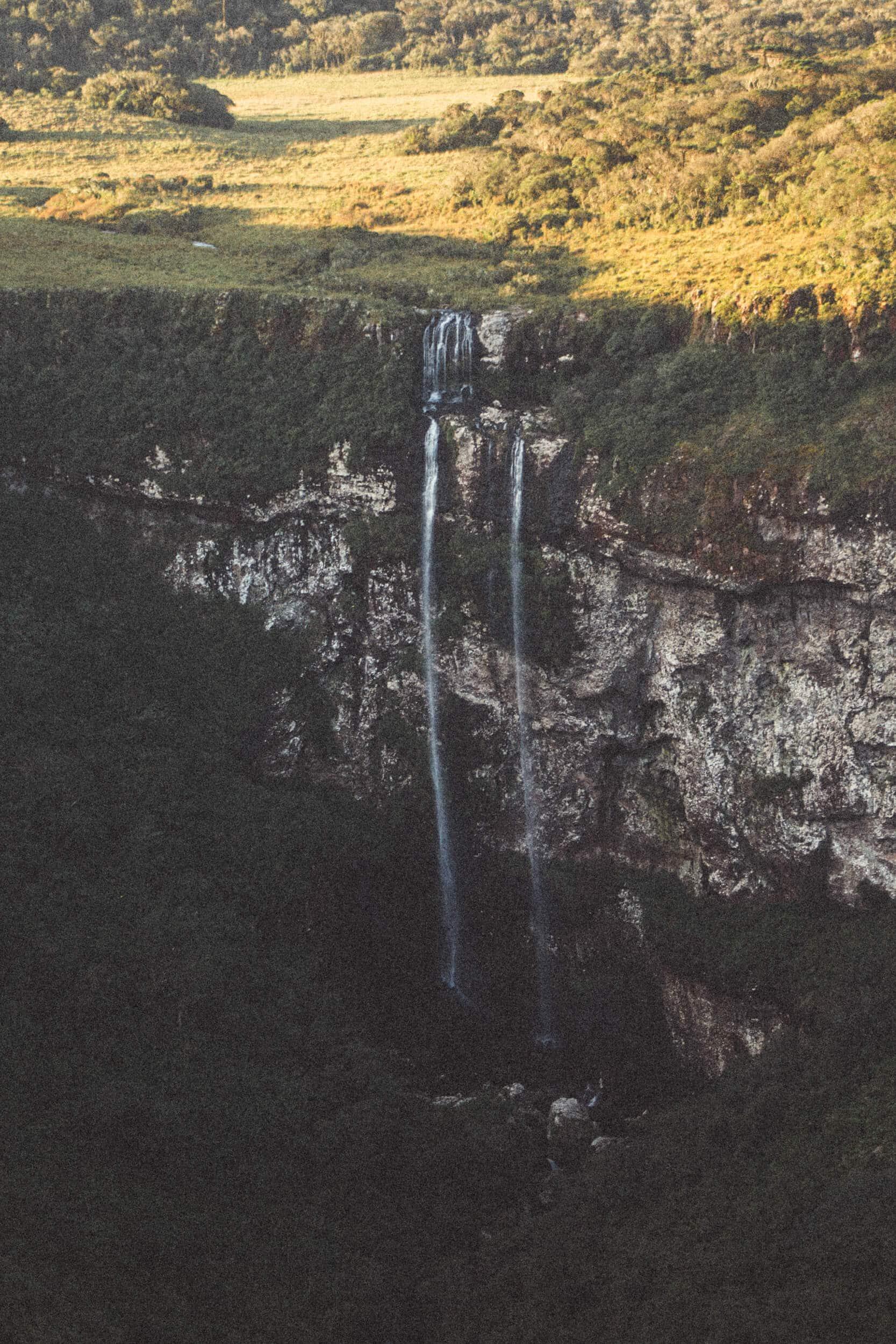 Cachoeira vista do Canyon Indios Coroados