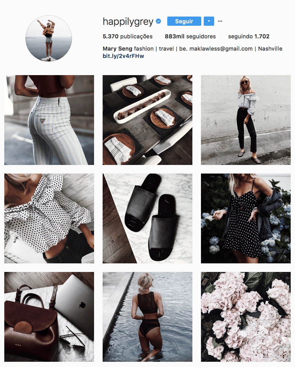 como organizar o feed instagram 9